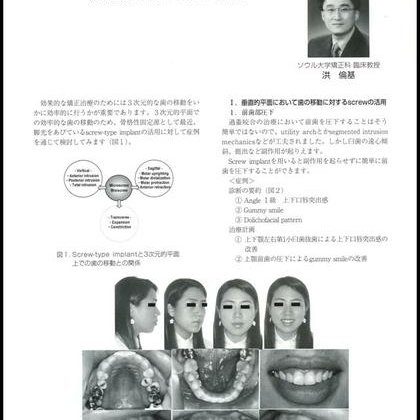 Hong RK. Screw-Assisted Orthodontic Treatment. AORK 2007. - 설측교정전문 청아치과의원